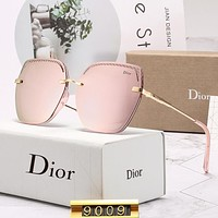 DIOR hot casual women frameless wave partial luster film sunglasses #5
