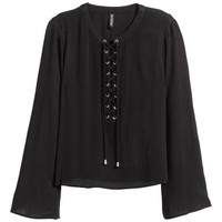 H&M Blouse with Lacing $24.99