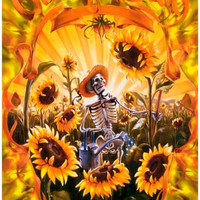 Grateful Dead Sunflowers Poster 11x17