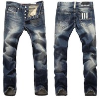 Men's Fashion Cats Ripped Holes Slim Men Pants Jeans [6528534659]