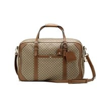 Gucci Unisex Classic Diamante Carry-On Travel Luggage Beige/Brown 267905