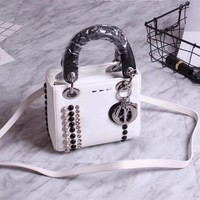 Ready Stock Dior Women's New Style Leather Handbag Shoulder Bag #236
