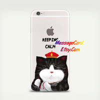 Cute Cat Clear Phone Case for iPhone 6 6s plus 6 6s 5s 5 4s 4 , Ctystal Clear iPhone 6 6s Case , Custom Clear iPhone 6 6s Case , Transparent
