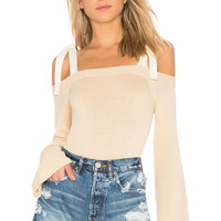 Lovers + Friends Mercer Sweater in Cream & White | REVOLVE