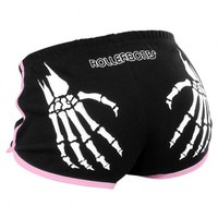 Skeleton Slap [Black/Pink] Booty Shorts