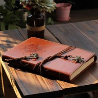 Valery Classic Leather Notebook Refillable Vintage Writing Journal Diary Lined Pages Men and Women Daily Use Gift