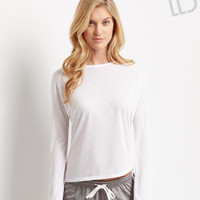 Aeropostale  LLD Long Sleeve Tulip Drop-Back Top