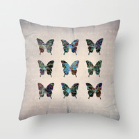 butterfly collection usa o5 Throw Pillow by Steffi by findsFUNDSTUECKE