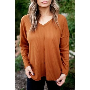 Oh My Gourd Thermal Top (Rust) FINAL SALE