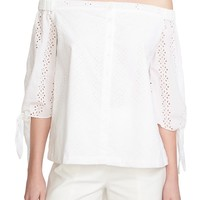 1.STATE Tie Sleeve Off the Shoulder Top | Nordstrom