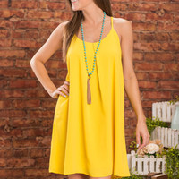 Frist Peek Dress, Lemon