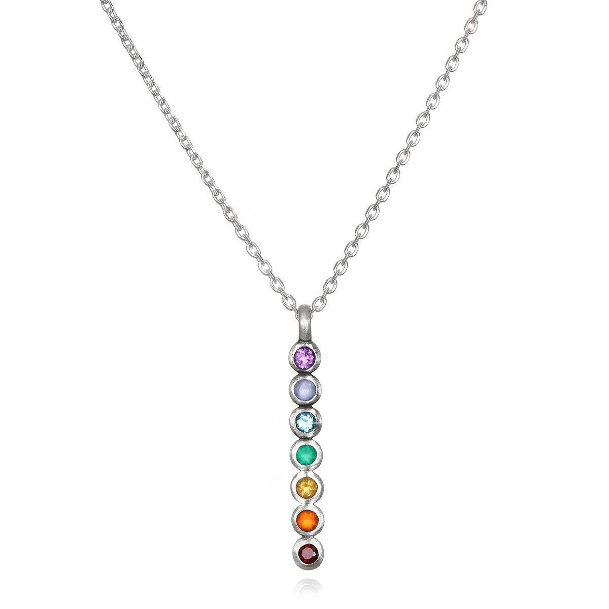 Image of Divine Alignment Silver Chakra Necklace