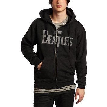 The Beatles - Vintage Logo Adult Zip Hoodie