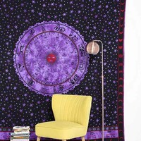 Magical Thinking Tie-Dyed Zodiac Tapestry- Purple One