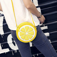 Lemon Style Ladys Fruit Slice Crossbody Shoulder Bag Messager Handbag Clutch HU