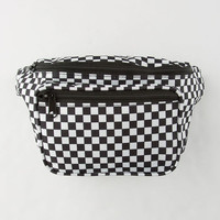 Black Checkered Fanny Pack