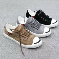"""""""Gucci"""" Unisex Sport Casual Calfskin Fashion Simple Retro Plate Shoes Couple Sneakers"""