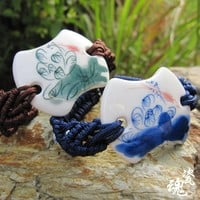 Vintage Couple Handcrafts Pottery Jewelry [6586057671]