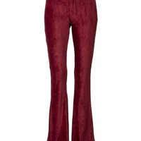 Light my Fire Burgundy Corduroy Flared Bell Bottom Pants
