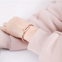 Stainless Steel Nail Couple Bracelets B2228-F
