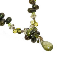 Green Garnet and Peridot Necklace by Kristin Ford by Kristin Ford Jewelry with Meaning | Whisperingtree.net