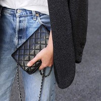 C Brand new women 20cm mini woc shoulder bag chain cross body messenge bag lambskin/caviar/patent leather top quality luxury design clutches c