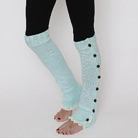 Lace Button Leg Warmers by KnitPopShop