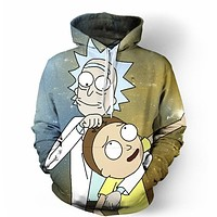 Rick And Morty 3D Print Sweatshirts Pullover Hoodies SSID2017