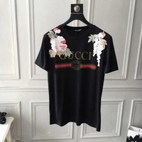 NEW 100% Authentic GUCCI 2018ss flowers t shirt  ※025