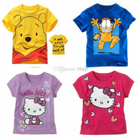Children Clothes 2014 summer Boys and girls Short sleeve T-shirt Children's T-shirts Baby leisure T-shirt. Printed T-shirts