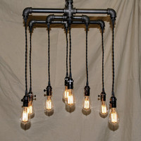 8 Light Industrial Chandelier