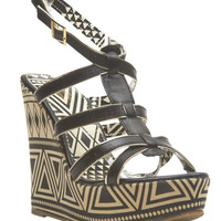 Tribal Strappy Wedge Sandals | Wet Seal