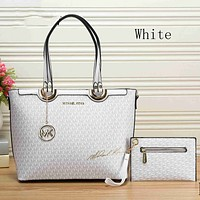 MK MICHAEL KORS women's shopping bag leather handbag two-piece F-KSPJ-BBDL White