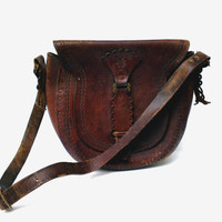 Brown genuine leather shoulder bag for women leather messenger bag women travel bag leather purse bag gift for women vintage accessory bag