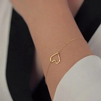 Fashionable Heart Chain Bracelet