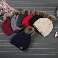2017 Rushed Special Solid Stretch Cable Knit Slouch Cc Beanie Skully Warm Ski Hat | Best Deal Online