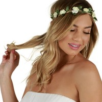 Ivory Flower Child Crown