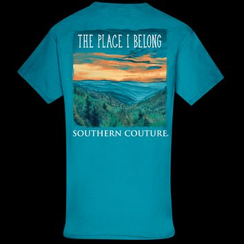 Southern Couture Classic Place I Belong Mountains T-Shirt