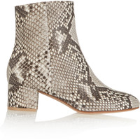 Gianvito Rossi - Python ankle boots