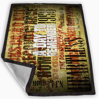 A Day To Remember Song Blanket for Kids Blanket, Fleece Blanket Cute and Awesome Blanket for your bedding, Blanket fleece *