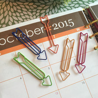 Set (2) Long Arrow Paperclips / ECLP / Erin Condren / Bookmarker / Calendar / Scrapbook