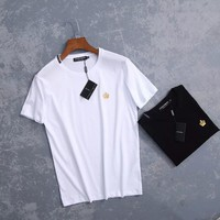 dolce gabbana men simple casual fashion small crown embroidery short sleeve t shirt top tee-1