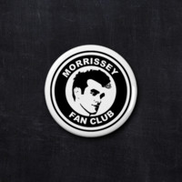 Morrissey fan club button