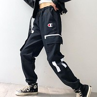Champion New fashion embroidery letter pants Black