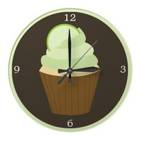 Green Lime Cupcake Clocks from Zazzle.com
