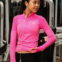 Women Long Sleeve Sport Suit Fitness Professional Sportswear Stretch Exercise Yoga  Top T-Shirt _ 6811