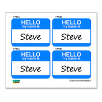 Steve Hello My Name Is - Sheet of 4 Stickers