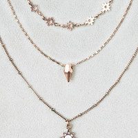 AEO Star Charm Gold Layered Necklace , Gold