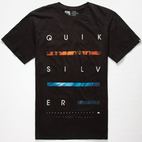 Quiksilver Stacks On Mens T-Shirt Black  In Sizes