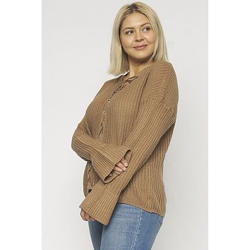 KARI CABLE-KNIT LACE-UP